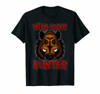 Wild Boar Hunter T-shirt Tee size M-3XL US 100% cotton men's clothing trend 2019