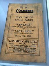 Centaur & Centurion Spare Parts Price List