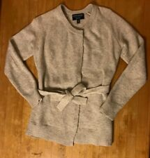 BANANA REPUBLIC Wrap-Around Sweater Womens Petite Size XS Gray-White Cardigan