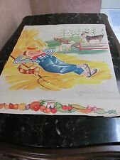 Vintage Advertising Poster by Libby's Food Company Quaint Farm & Little Boy Blue