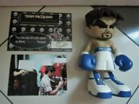 """MANNY PACQUIAO 7"""" FIGURE BLUE ORIGINAL SIGNATURE SILVER INK MINDSTYLE PHASE OUT"""