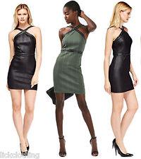 New Topshop Sleeveless Hardware Strap Bandage Bodycon Dress 6-14 Black Khaki