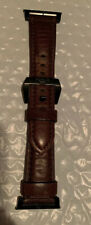 NOMAD Leather Watch Strap for Apple Watch 42/44 mm Brn/Blk Lugs Used!!!