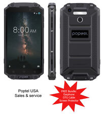 "PoptelUSA 5.5"" Rugged P9000 4GB+64GB Unlocked 4G, Dual SIM NFC Android 7 (Black)"
