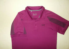 Under Armour Short Sleeve Maroon Polo Shirt Mens Large Excellent Condition