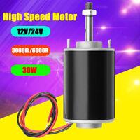 12/24V 30W High Speed Permanent Magnet Motors CW/CCW DIY Generator 3000/6000RPM