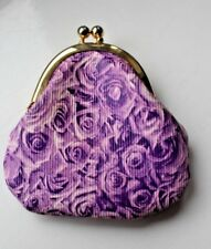 River Island purple roses small dinky coin purse