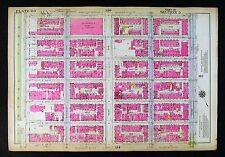 1921 New York City Map Manhattan East Side Central Park 5th-3rd Avenue 89th-95th