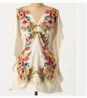 Yoana Baraschi S Blouse Perennial Awakening Blouse Silk Floral Top Tunic Top