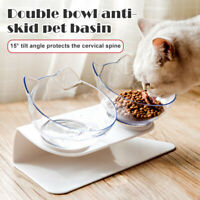 Food Bowl With Stand Elevated Cat Dog Water Bowl Detachable Pet Feeding