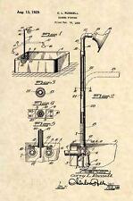 Official Antique Shower US Patent Art Print- Vintage Bath Tub Bathroom Decor 500