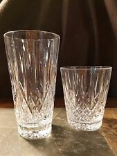 """Godinger """"Caitlin"""" (1) Highball and (1) Double Old Fashioned Glasses Tumblers"""