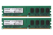 4GB Crucial 2PCS 2GB DDR2 800MHz PC2-6400 INTEL Desktop RAM DIMM Memory PC6400
