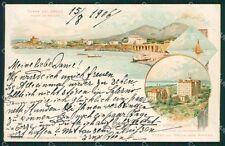 Napoli Torre del Greco Vesuvio Gruss cartolina XB0249