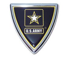 army shield military logo chrome auto car emblem usa made