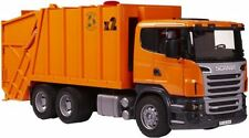 NEW BRUDER SCANIA R-SERIES GARBAGE TRUCK ORANGE BLACK VEHICLES TOYS PLAY KIDS