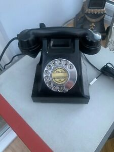 VINTAGE BLACK T E L  BAKELITE TELEPHONE IN WORKING ORDER - WITH A GREAT RING!