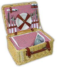 Picknickkorb Picknickkoffer Picknicktasche Picknick Geschirr Set ❤️ mit Kühlfach
