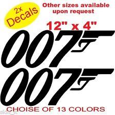 SET 2X 007 Funny Graphic Vinyl Decal Sticker Car, Laptop Bike  (ref FC1)CAR, VAN
