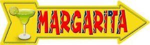 MARGARITA METAL NOVELTY DIRECTIONAL ARROW SIGN