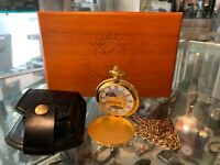 LEST WE FORGET POCKET WATCH IN WOODEN BOX - AU STOCK !