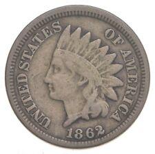 Civil War Era - 1862 Copper Nickel Indian Head Cent - Historic *201