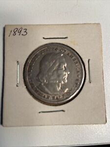 1893 US Christopher Columbus SILVER Half Dollar Commemorative