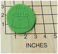 Birthday Party Cake Shape Fondant Cookie Cutter and Stamp #1133