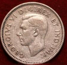 1945 Canada 10 Cents Silver Foreign Coin