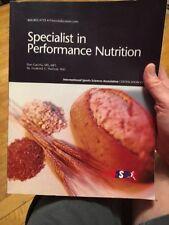 specialist in Performance Nutrition By Dan Gastelu