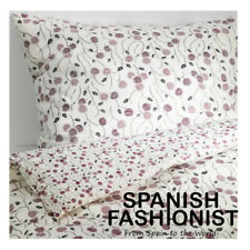 IKEA MAJVIVA Quilt cover and 2 pillowcases, white, lilac, 240x220/50x60 cm