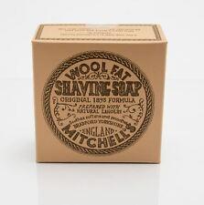 Grasa de lana de Mitchell lanolina jabón de afeitado & Tazón de Cerámica/Plato - 125g-Mitchells