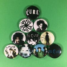 """The Cure 1"""" Button Pin Set Robert Smith Classic New Wave Indie Goth Rock n Roll"""
