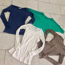 4 femmes de marque Les dessus lashirts KUYICHI bleu M esprit M vert + taupe Mexx blanc L