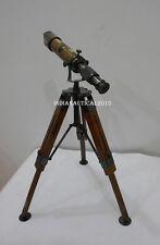 Antique Brass table Telescope With Adjustable Tripod Beautiful Sea Telescope