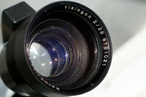 Carl Zeiss Jena Visiogon 2/28 Clean & Healthy, 7-elements APS-C image coverage