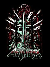 ANTHRAX cd lgo FOR ALL THE KINGS POSTER Official SHIRT XL new