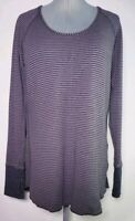 Lululemon Women's Striped Athletic Long Sleeve Athletic Top Shirt! Size M