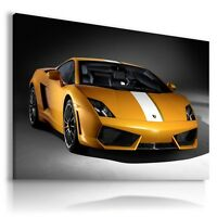 LAMBORGHINI GALLARDO YELLOW Sport Car Wall Art Canvas Picture AU173 MATAGA