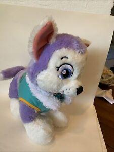 Build A Bear Paw Patrol Everest The Husky Purple Puppy Dog Plush Nickelodeon