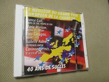 "CD ""LE MEILLEUR DE L'EUROVISION"" France GALL, Severine, Sandra KIM, ..."