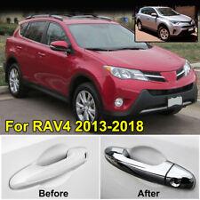 For Toyota RAV 4 2013-2018 Chrome Door Handle Covers Trim Catch Molding Overlay