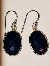 Natural Sapphire Earrings 925 Brings Light Joy Love Restores Body Balance Amulet