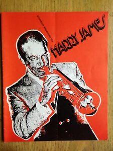 Harry James & His Orchestra 1970s souvenir brochure