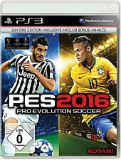 SONY PS3 Pro Evolution Soccer 2016 -- Day One Edition PES 16 PlayStation3 Neymar