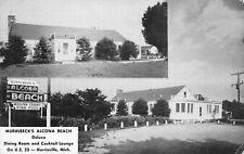 HARRISVILLE Michigan US USA postcard ALCONA County Muehlbeck motel 1965