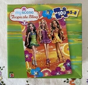 Barbie My Scene Tropicale Bling 100 Piece Jigsaw Puzzle (2006) : Vibrant : GUC