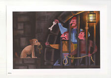 AMANDA VISELL WALT DISNEY PIRATES OF THE CARIBBEAN DOG WITH KEY COLOR ART PRINT