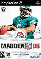 Madden NFL 06 (Sony PlayStation 2, 2005) PS2 GAME COMPLETE w/MANUAL FOOTBALL CIB