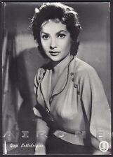 GINA LOLLOBRIGIDA 27 ATTRICE ACTRESS CINEMA MOVIE STAR PEOPLE Cartolina FOTOGR.